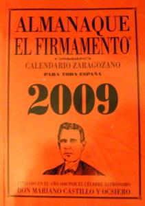 Portada del Calendario Zaragozano 2009