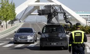 Grabación de anuncio en el Puente del Tercer Milenio de Zaragoza