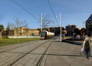 Tranvía de Zaragoza por Delicias