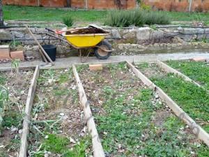 Febrero 2014 - Preparando tabla para borrajas