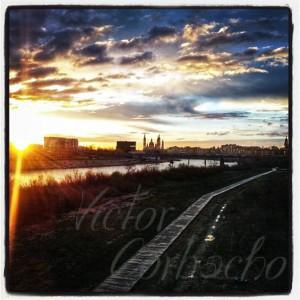 Amanece en el Ebro, Zaragoza
